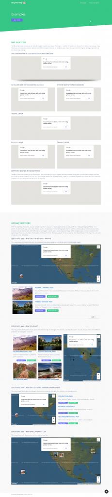 Screenshot der Webseite wppostmap