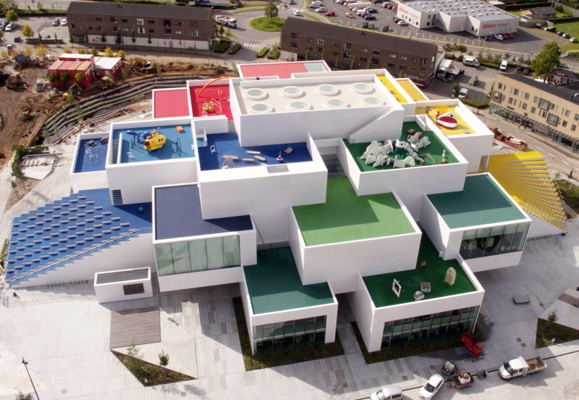 Lego House in Billund (Luftaufnahme) Foto: Lego